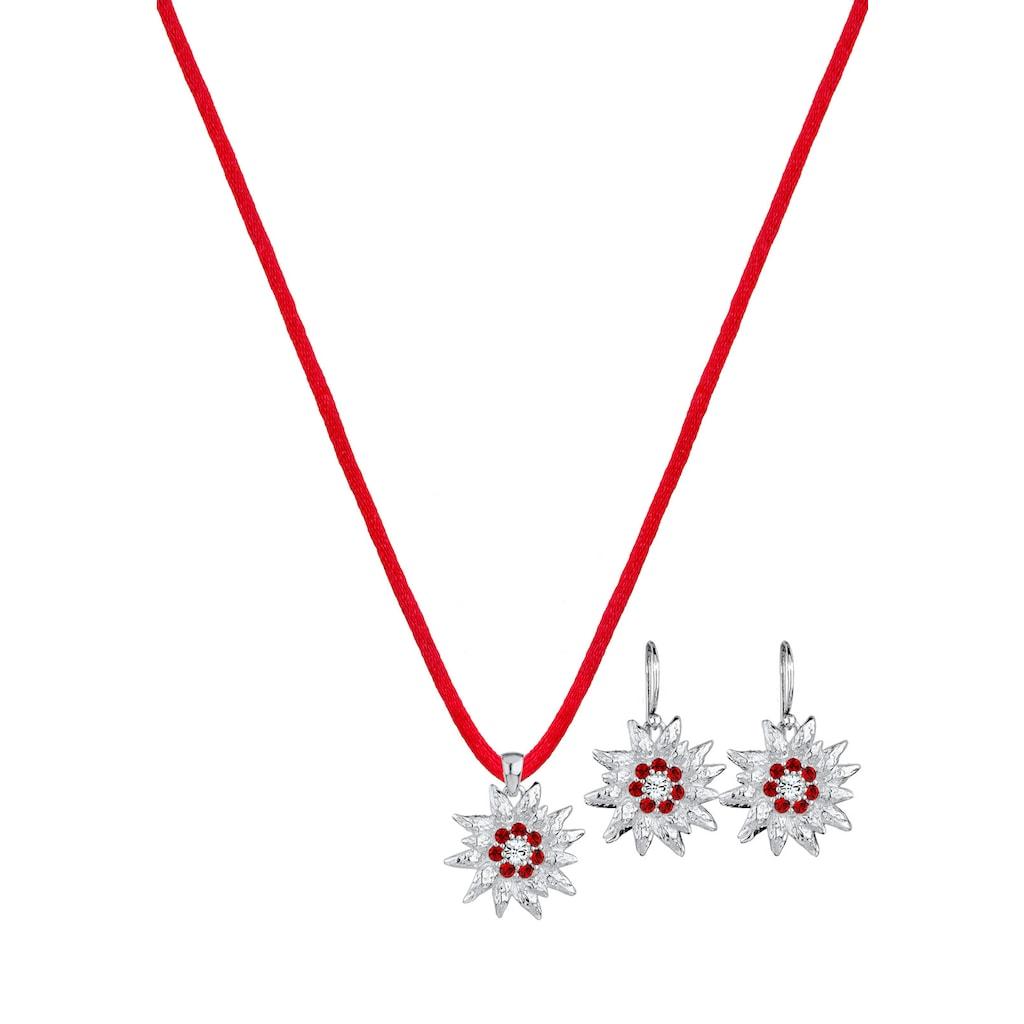 Elli Schmuckset »Edelweiss Kristalle Silber«