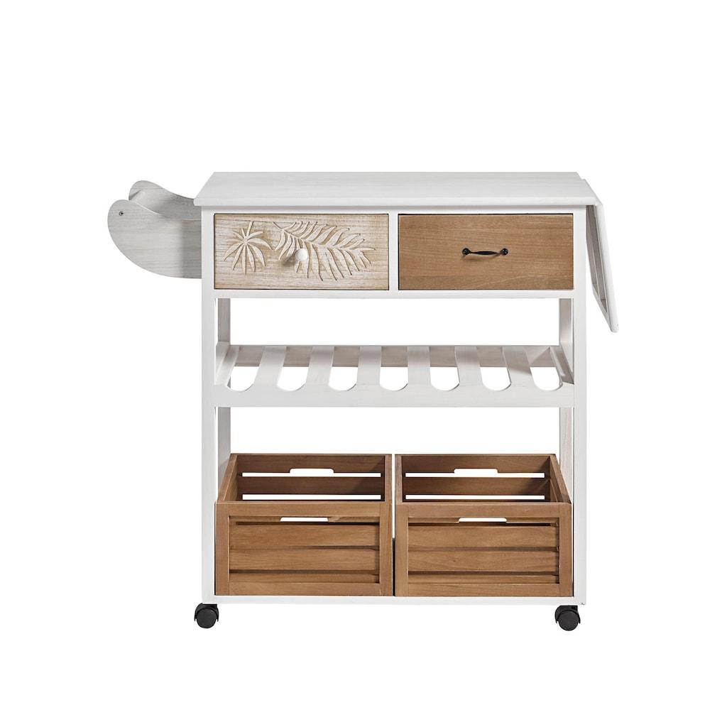 Küchenwagen weiß gewischt