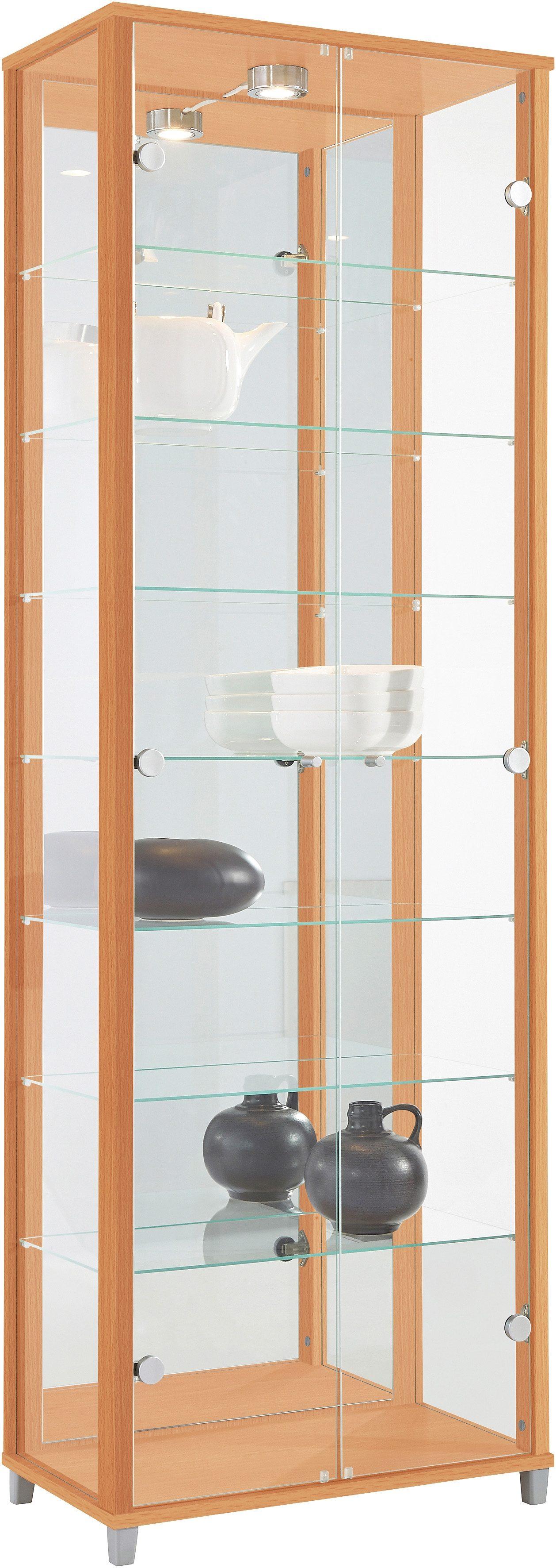 Vitrine, Höhe 172 cm beige Glasvitrinen Vitrinen Vitrine