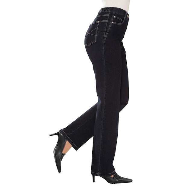 Classic Basics Jeans mit seitlichen Einsätzen