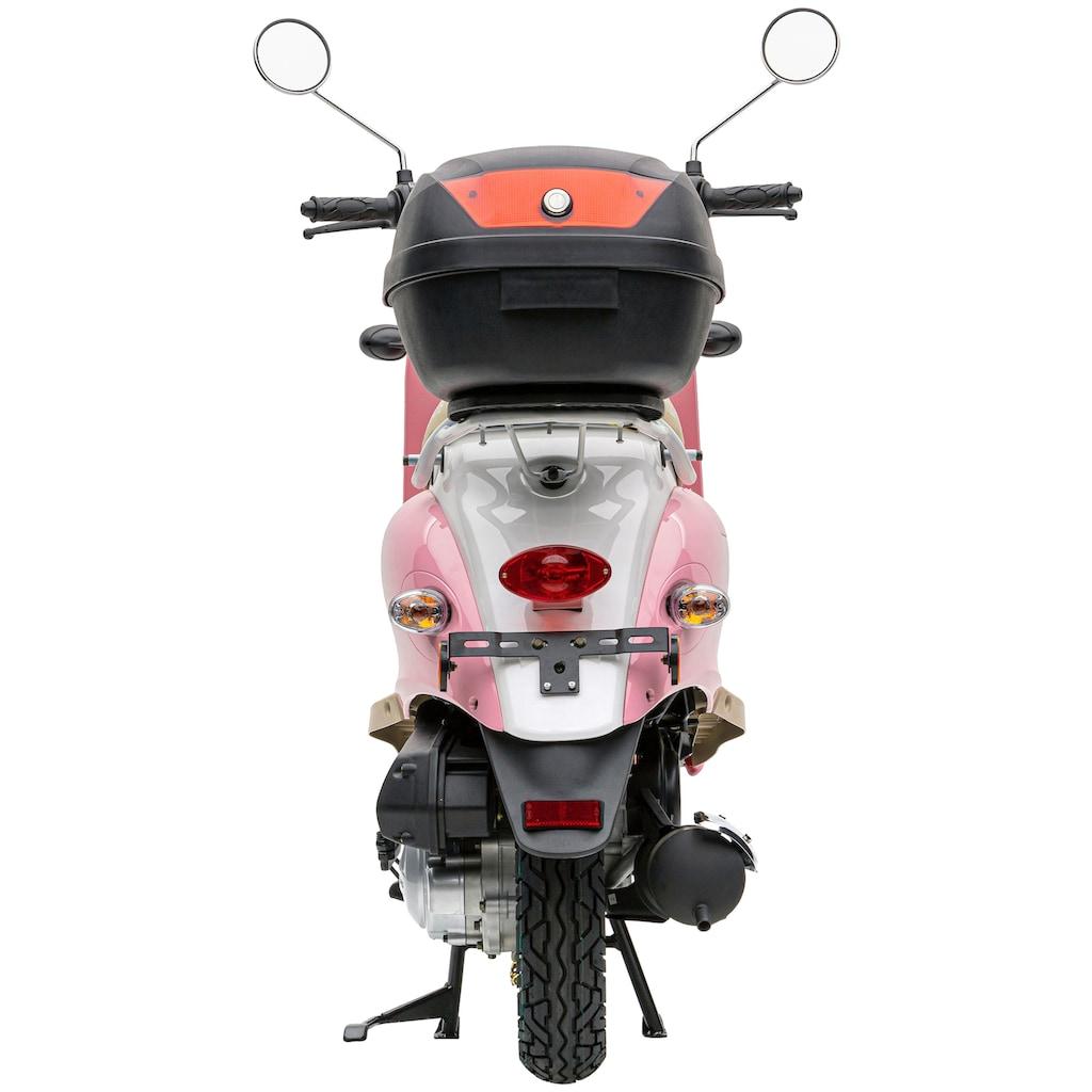 Nova Motors Motorroller »Retro Star Touring«, 49 cm³, 45 km/h, 2,85 PS, inkl. Topcase