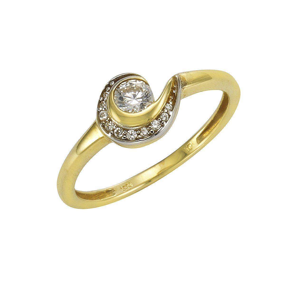 Vivance Ring 333/- Gelbgold bicolor Zirkonia | 04006046290463