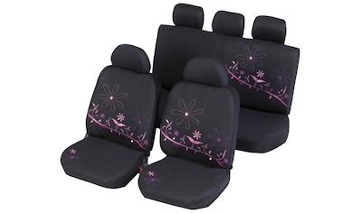 CARTREND Set: Autositzbezug 11 - tlg., Polyester schwarz rosa für viele Sitze kaufen