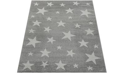 Paco Home Teppich »Capri 315«, rechteckig, 14 mm Höhe, Kurzflor mit Stern Motiv, Pastell-Farben kaufen