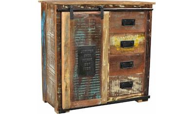 SIT Kommode »Jupiter«, aus recyceltem Altholz, Breite 77, Shabby Chic, Vintage kaufen