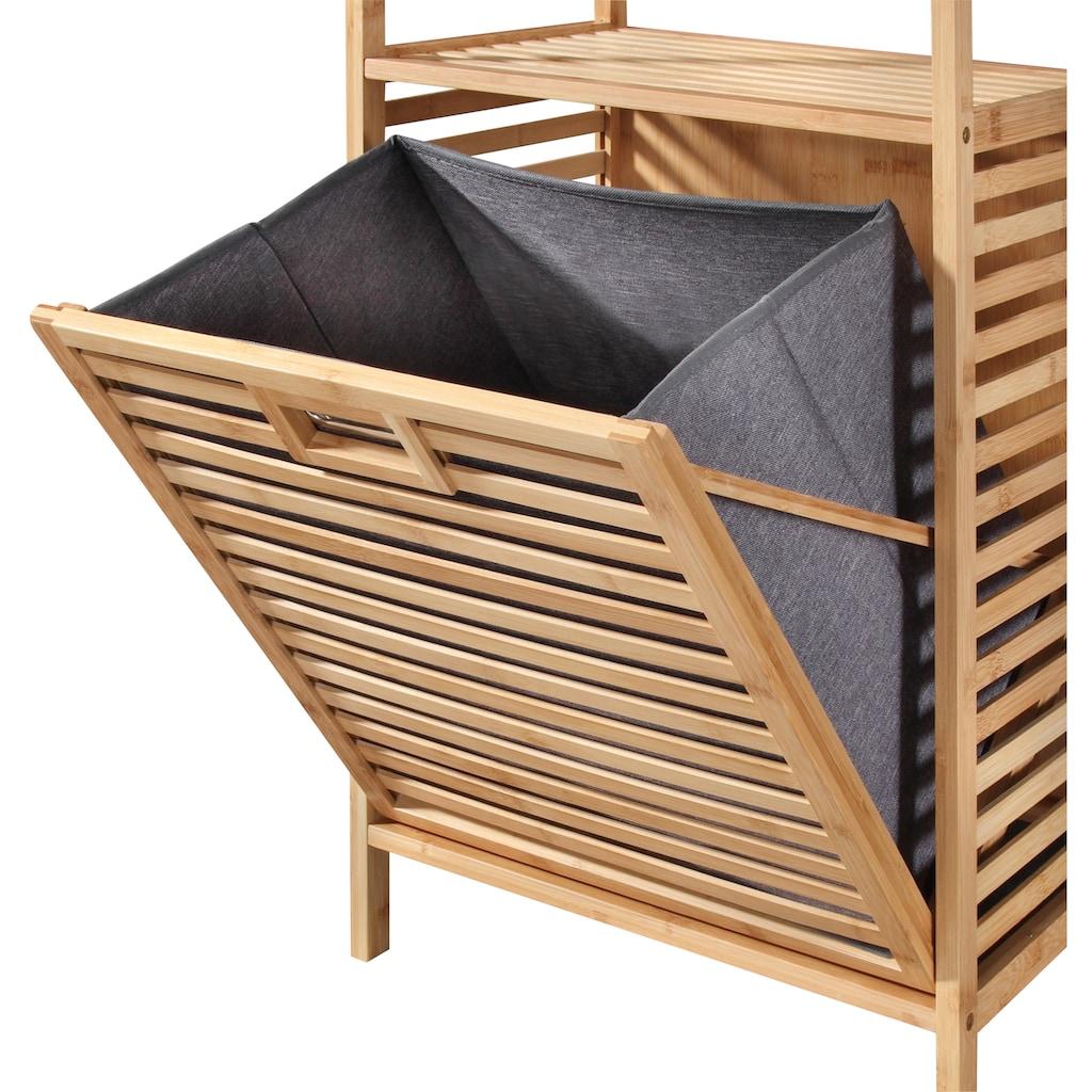 welltime Wäschetruhe »Panama«, mit Ablage, aus Bambus