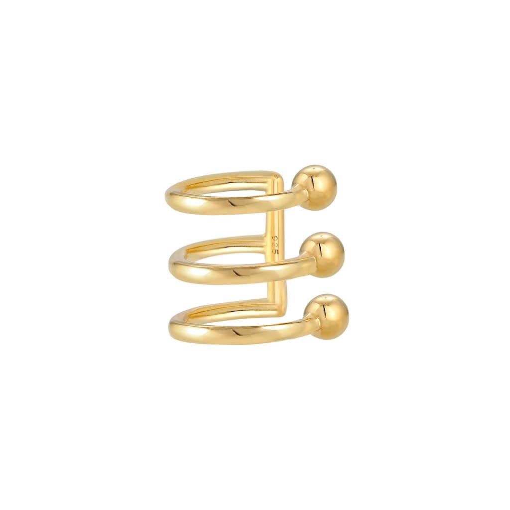 Elli Single-Ohrhaken »Ear Cuffs 3er Ohrklemme Kugel Trend 925er Silber«