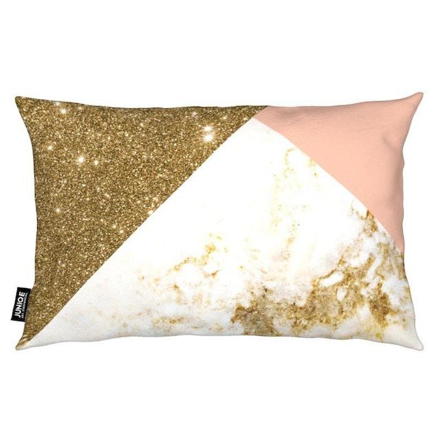 Dekokissen, »Pink and Gold Marble Collage«, Juniqe