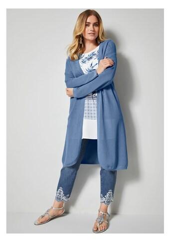 Sara Lindholm by HAPPYsize Strickmantel aus reiner Baumwolle kaufen