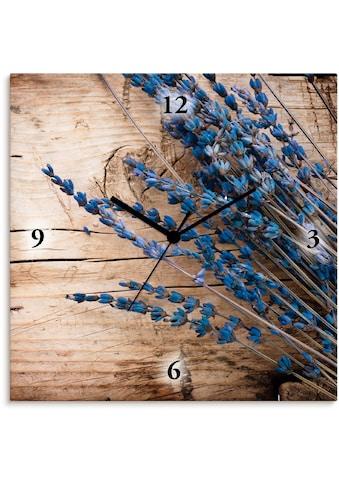 Artland Wanduhr »Lavendel vor Holzhintergrund«, lautlos, ohne Tickgeräusche, nicht... kaufen