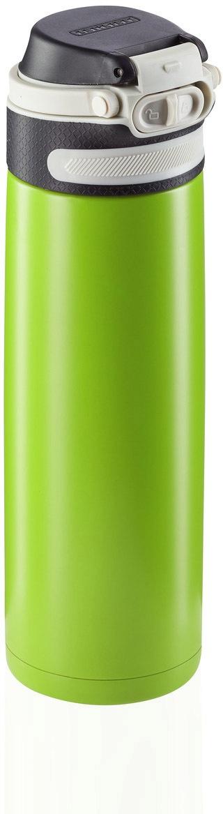 Leifheit Thermoflasche Flip, 600 ml grün Aufbewahrung Küchenhelfer Haushaltswaren