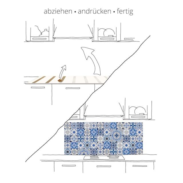 """Artland Küchenrückwand """"Braune abstrakte Welle"""", (1-tlg.)"""