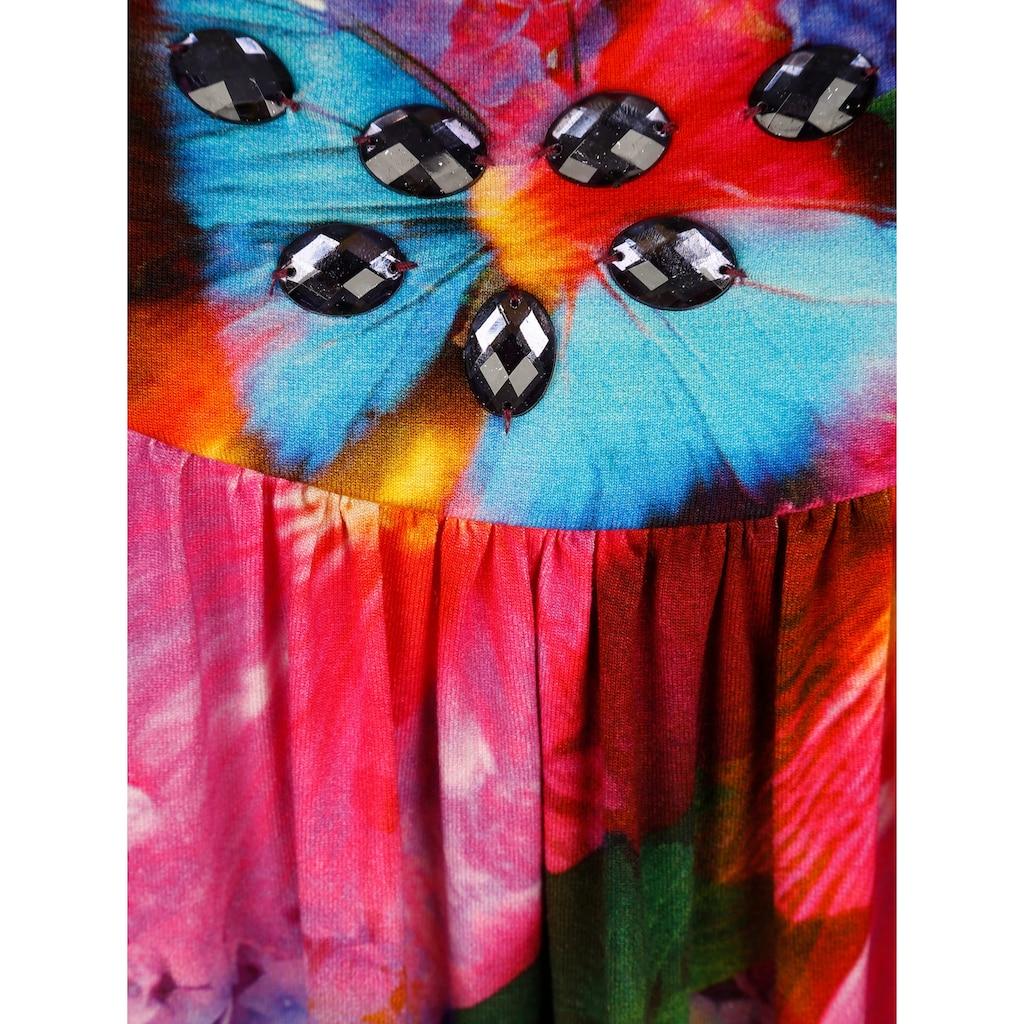 Alba Moda Strandkleid in tropischer Farbigkeit