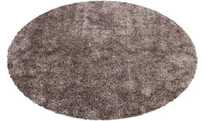 calo-deluxe Hochflor-Teppich »Masada 900«, rund, 40 mm Höhe, Wohnzimmer kaufen