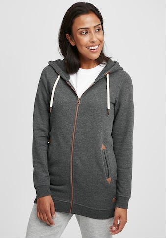 OXMO Kapuzensweatjacke »Vicky Straight-Zip«, Sweatshirtjacke lang geschnitten kaufen