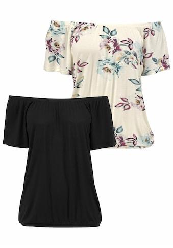 LASCANA Carmenshirt, variabel zu tragen kaufen