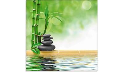 Artland Glasbild »Spa Konzept Zen Basaltsteine«, Zen, (1 St.) kaufen