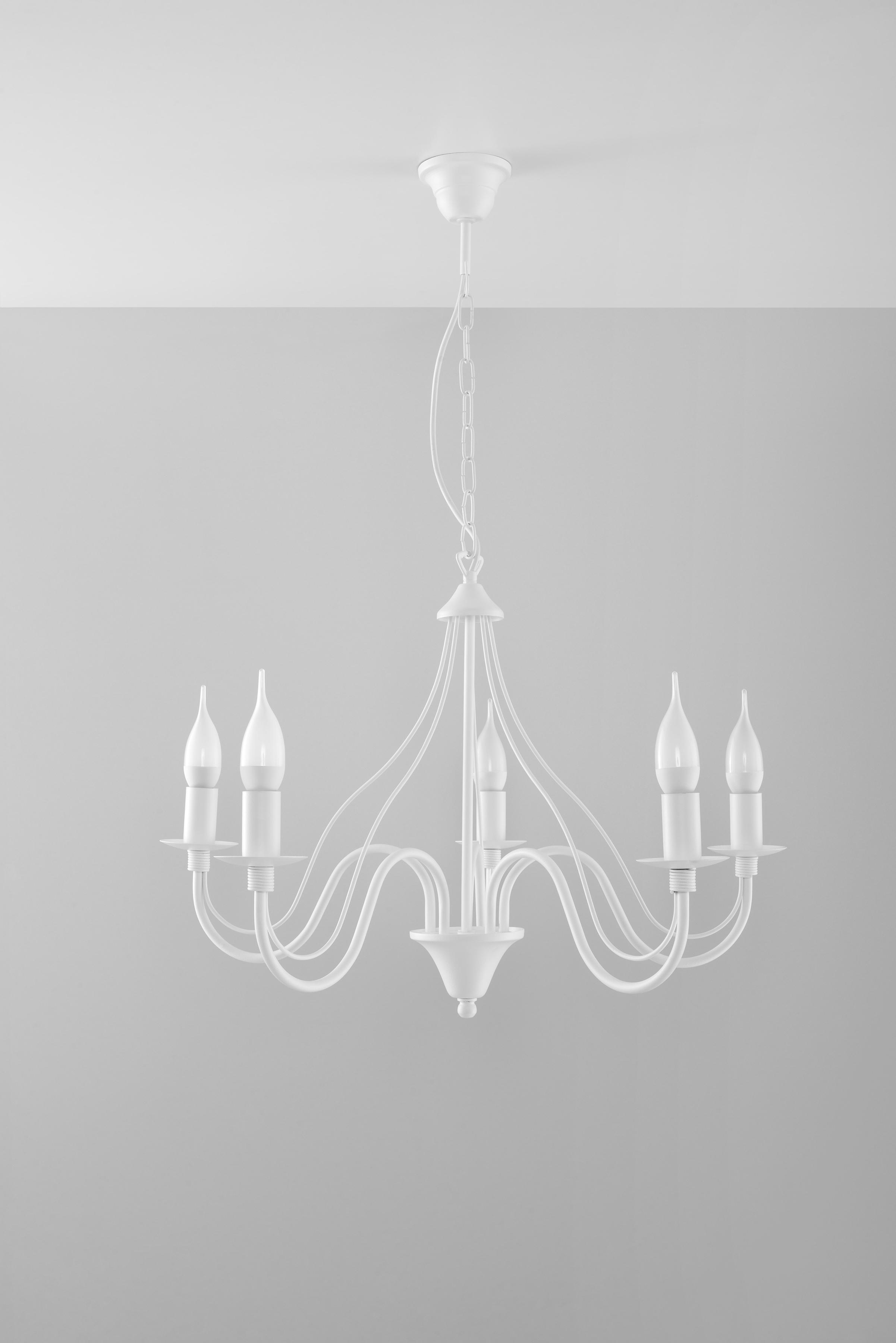 SOLLUX lighting Kronleuchter MINERWA, E14, 1 St., Hängeleuchte, Pendellampe, Pendelleuchte