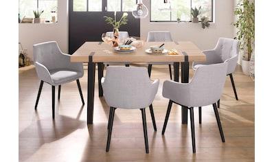 Home affaire Essgruppe »Sanchez und Bradford«, (Set, 5 tlg.), mit Tisch, Breite 150 cm kaufen