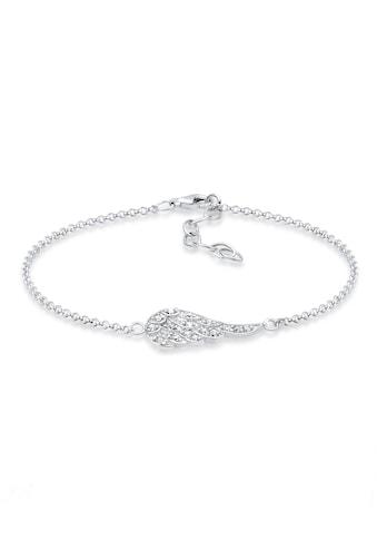 Elli Armband »Flügel Kristalle 925 Silber« kaufen
