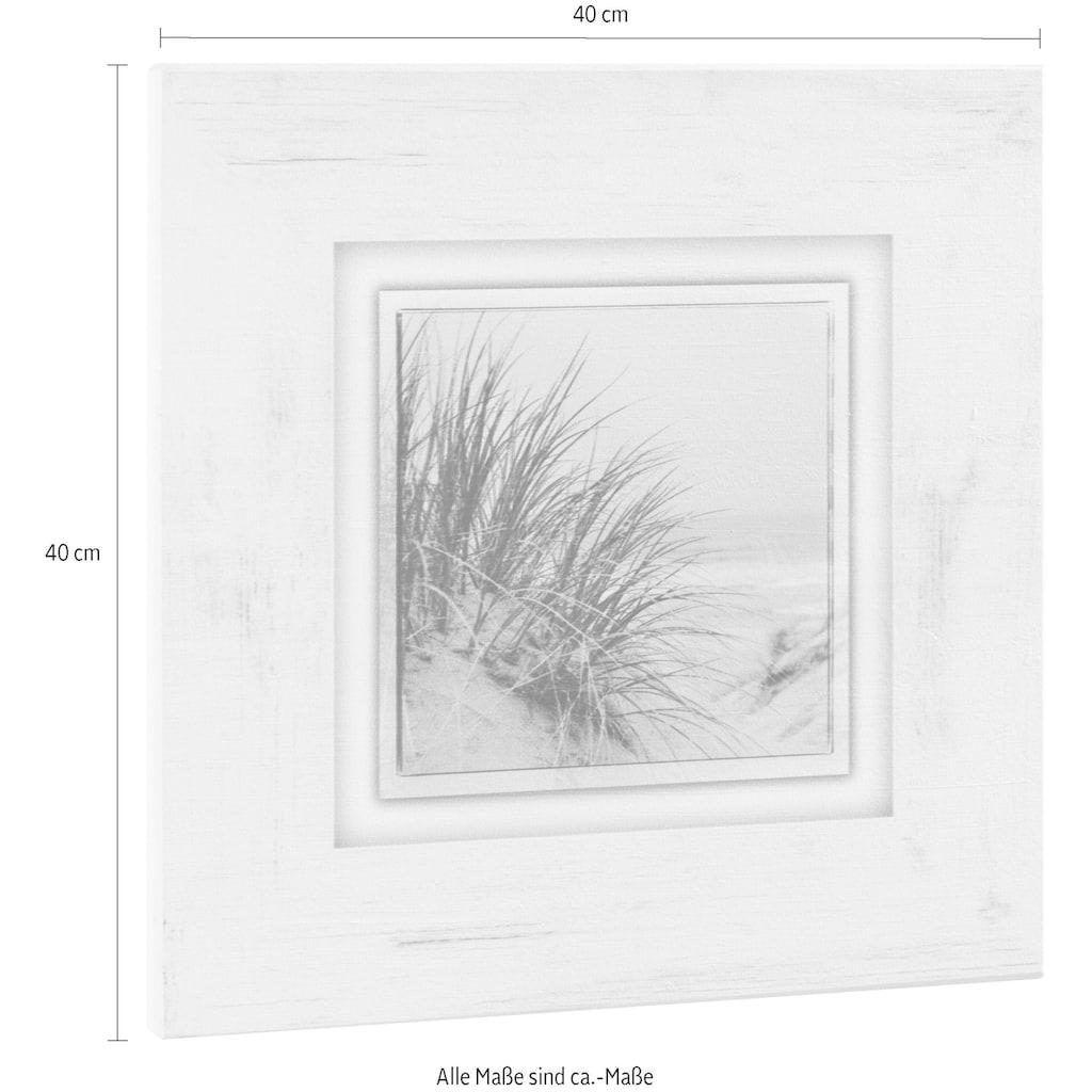 Home affaire Holzbild »Gräser am Strand«, 40/40 cm