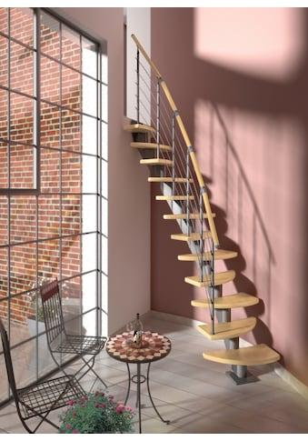 DOLLE Systemtreppe »Berlin«, Edelstahlgeländer mit Holzhandlauf aus Birke, BxH: 64x270 cm kaufen