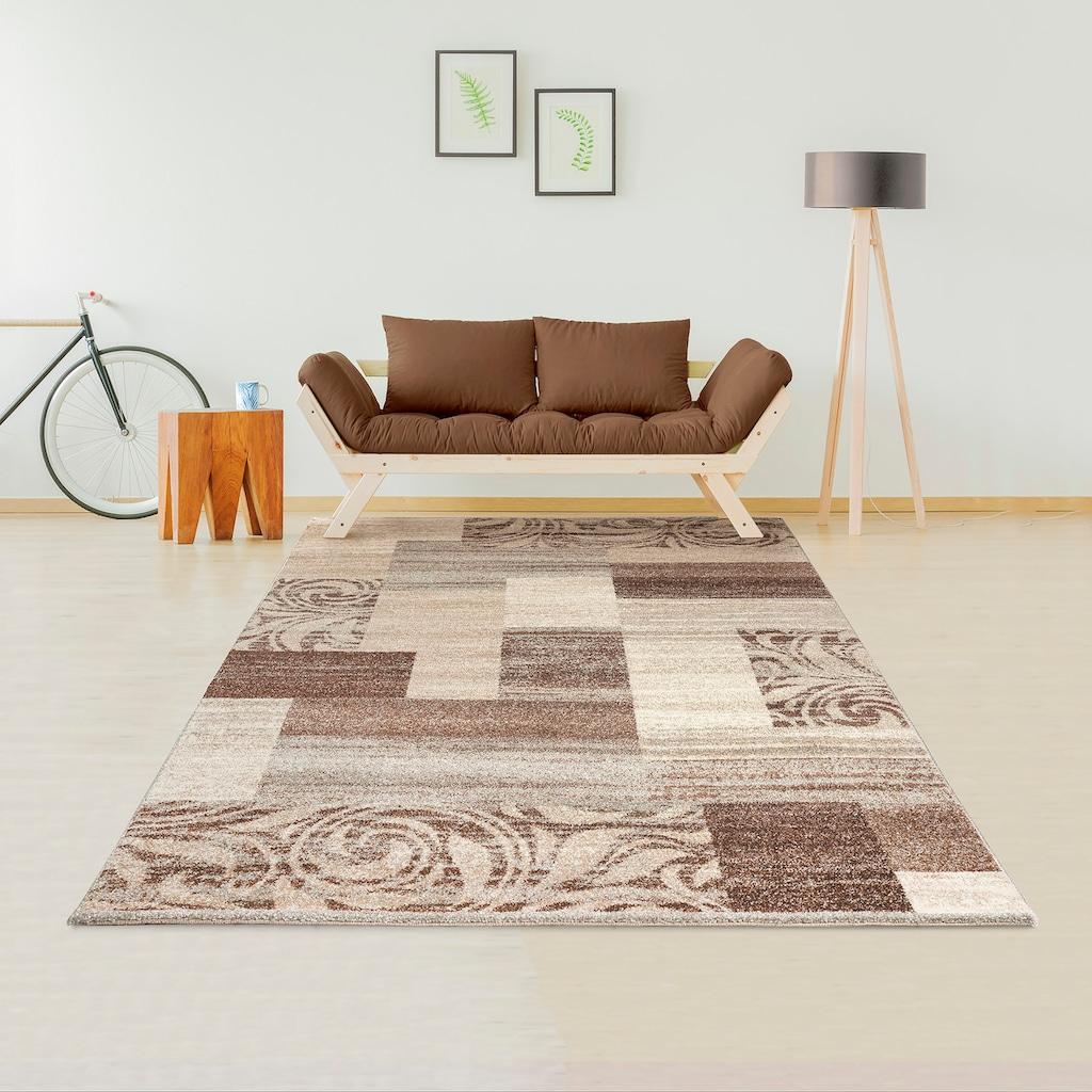 my home Teppich »Julen«, rechteckig, 14 mm Höhe, weiche Haptik, Wohnzimmer