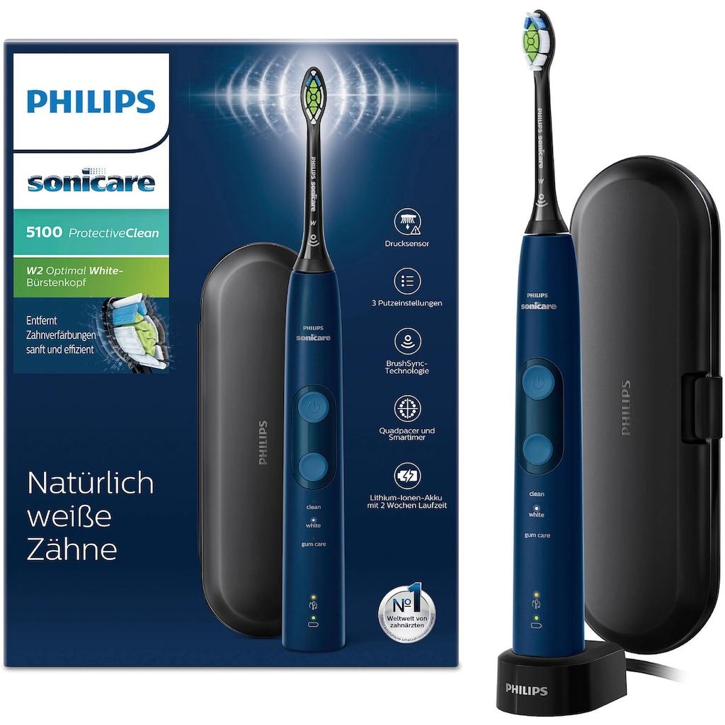 Philips Sonicare Schallzahnbürste »Sonicare HX6851/53«, 1 St. Aufsteckbürsten, ProtectiveClean 5100 mit Andruckkontrolle