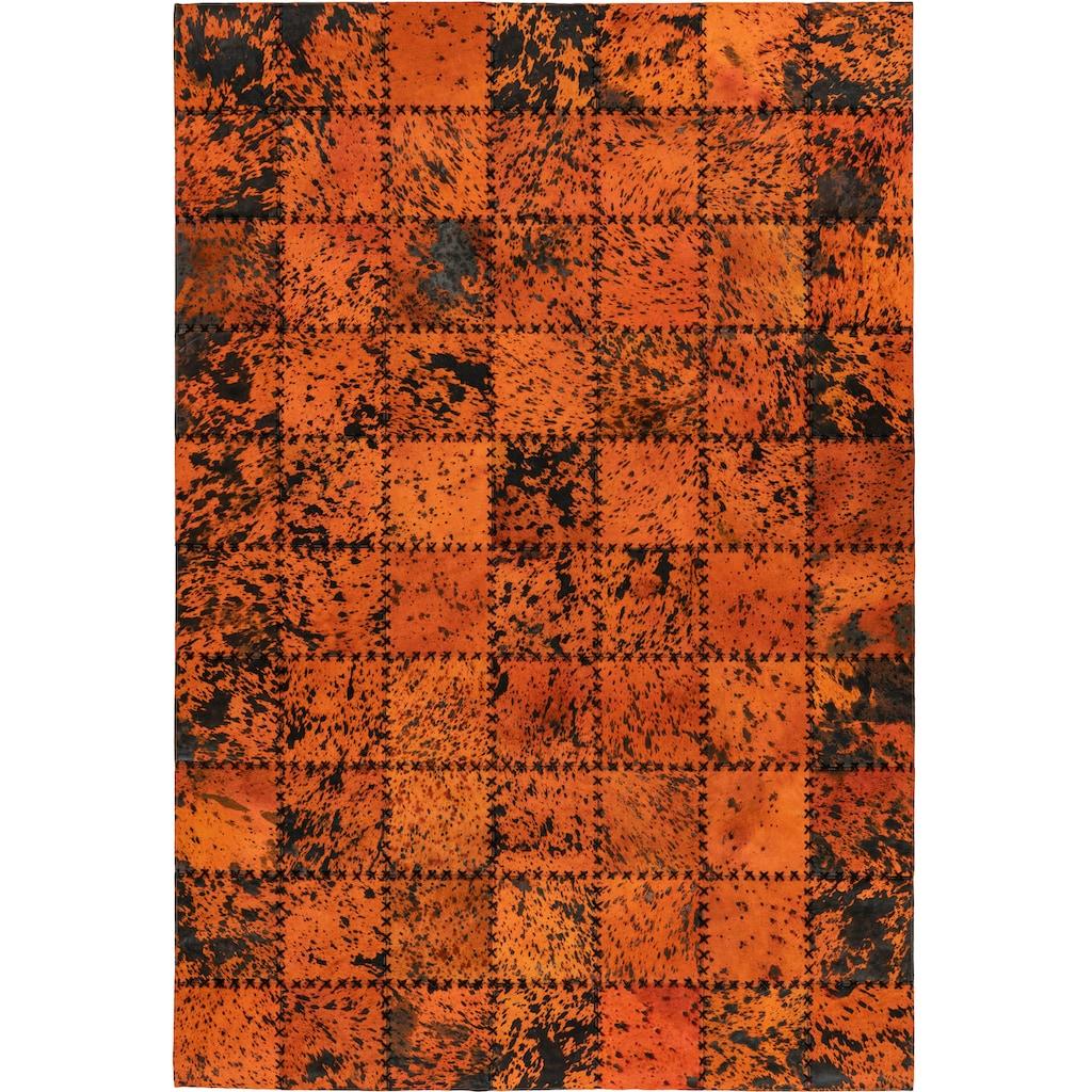 Arte Espina Fellteppich »Voila 100«, rechteckig, 5 mm Höhe, echtes Kuhfell, Leder, Wohnzimmer