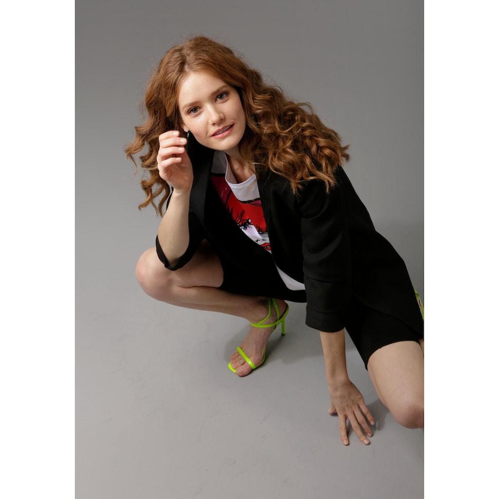 Aniston CASUAL Longblazer, mit extravaganten, gerafften Ärmeln