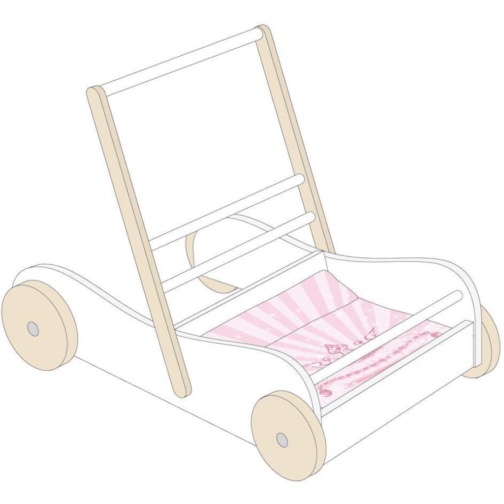 roba® Puppenwagen »Wagen Scarlett, weiß«