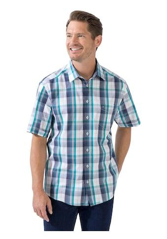 Jupiter Kurzarm - Hemd im garngefärbten Karo - Muster. kaufen