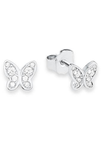 s.Oliver Junior Paar Ohrstecker »Schmetterling, 9233199«, mit Zirkonia kaufen