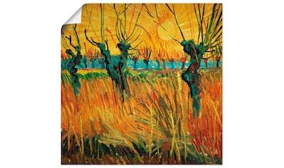 Artland Wandbild »Weiden bei Sonnenuntergang. 1888«, Wiesen & Bäume, (1 St.), in... kaufen