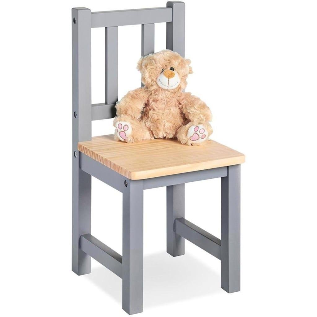 Pinolino® Stuhl »Fenna, grau/natur«, für Kinder