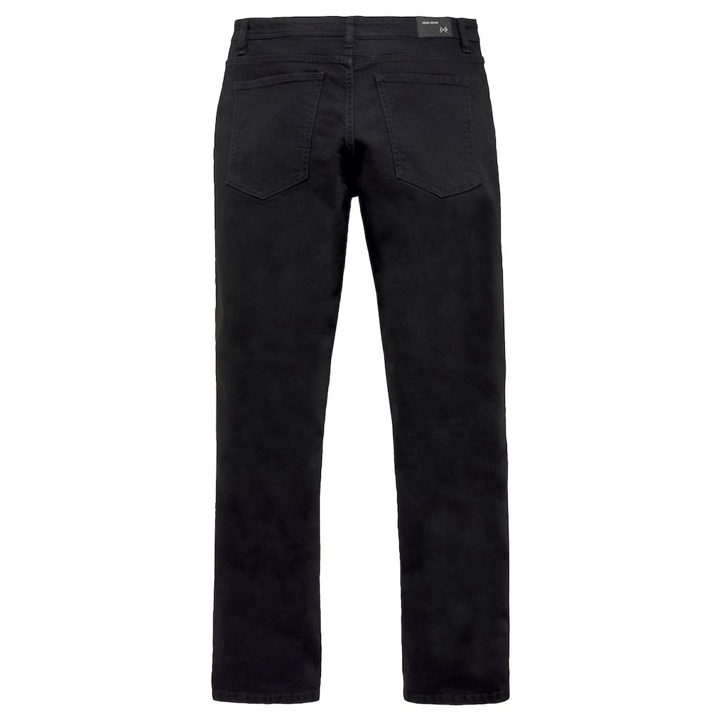 John Devin Straight-Jeans, mit Knopfleiste