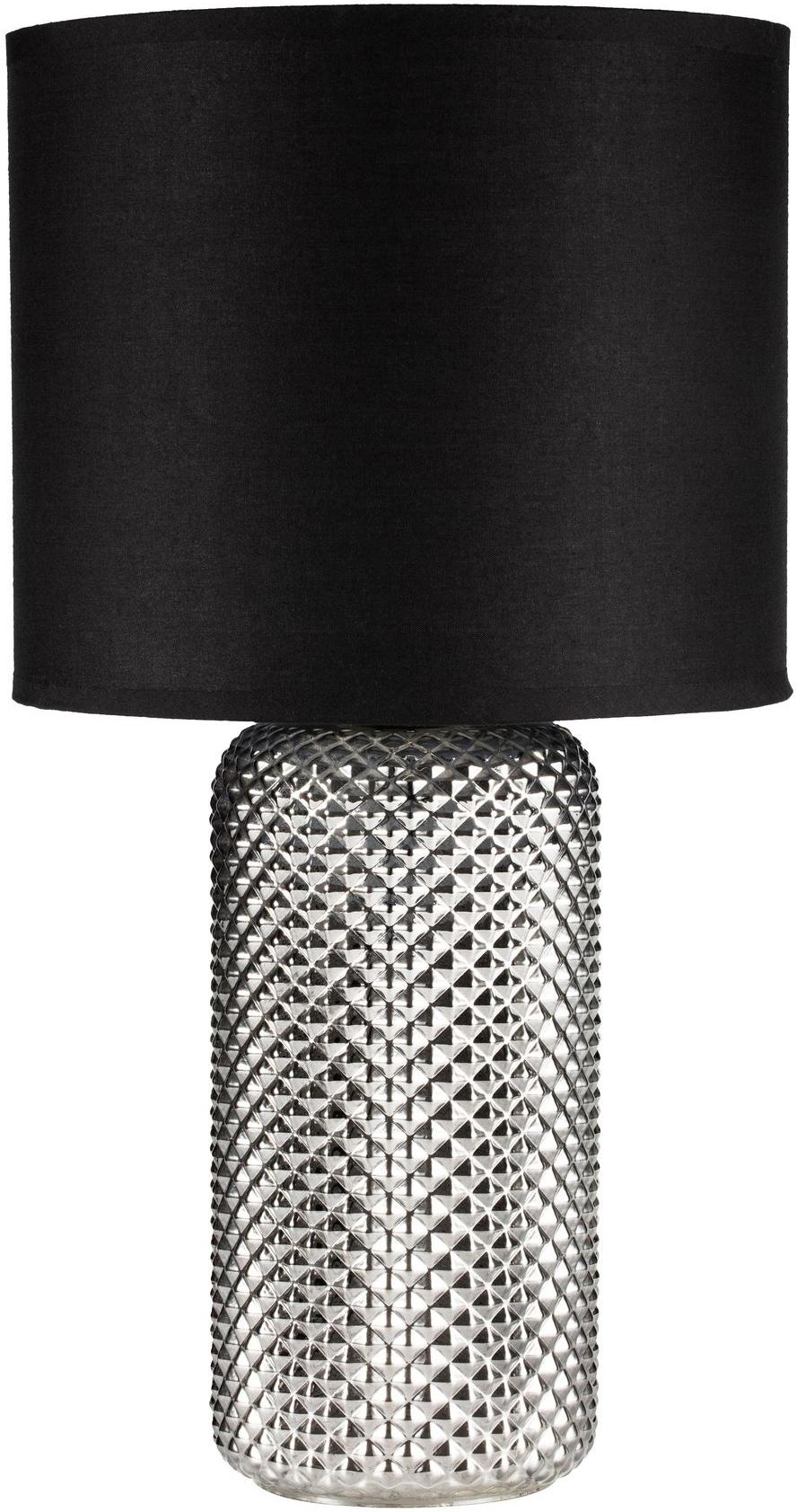 Pauleen Tischleuchte Bright Jewel, E27, 1 St., Rauchglas Schwarz
