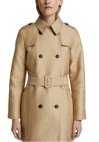 Esprit Collection Trenchcoat, zweireihig geknöpft mit klassischen Details kaufen