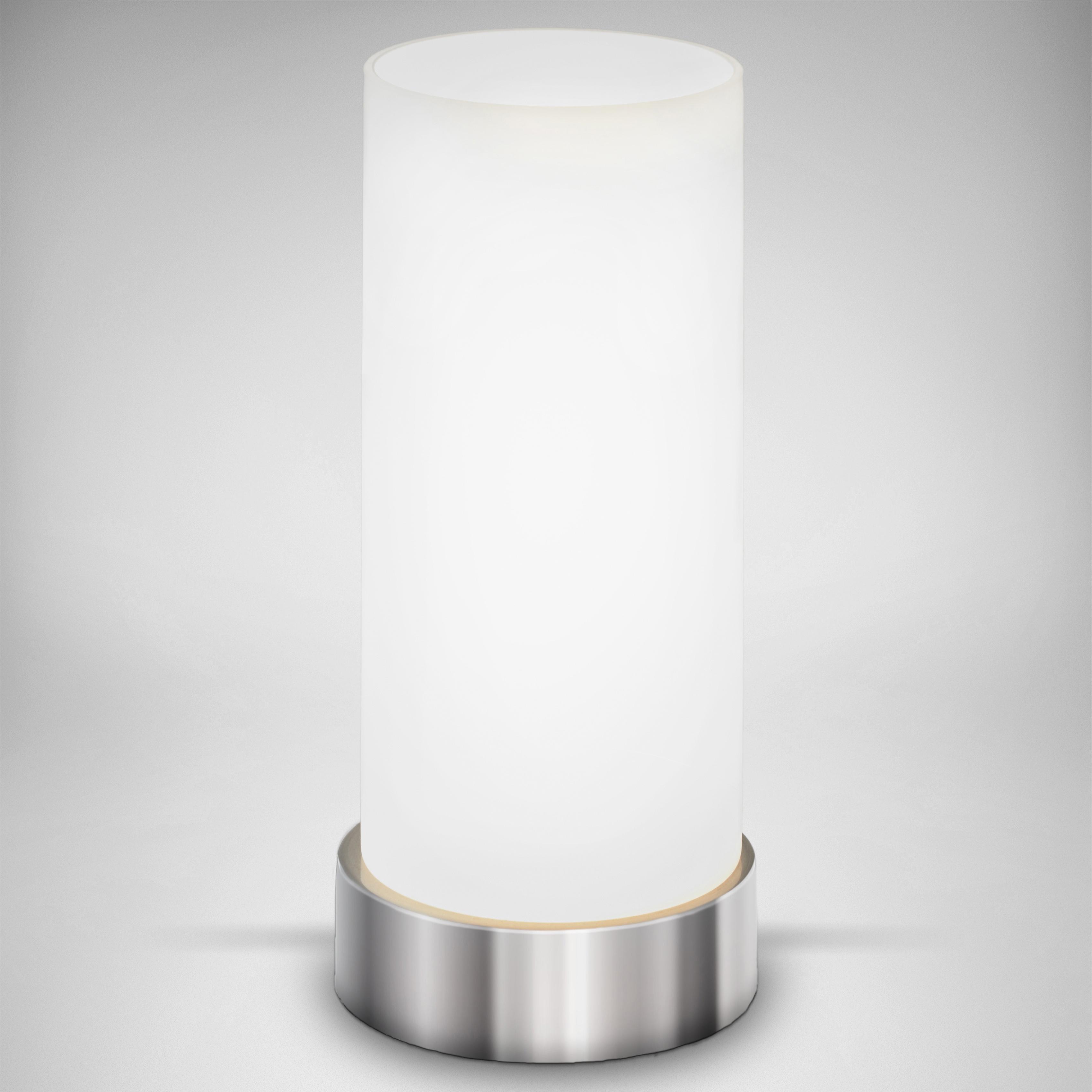 B.K.Licht Tischleuchte Isa, E14, LED Tischlampe Berührungssensor dimmbar Touchdimmer Nachttischlampe Schlafzimmer Büro