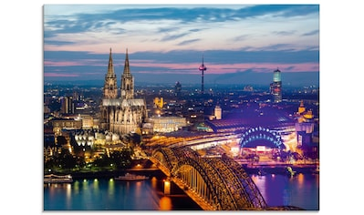 Artland Glasbild »Köln Panorama am Abend«, Deutschland, (1 St.) kaufen
