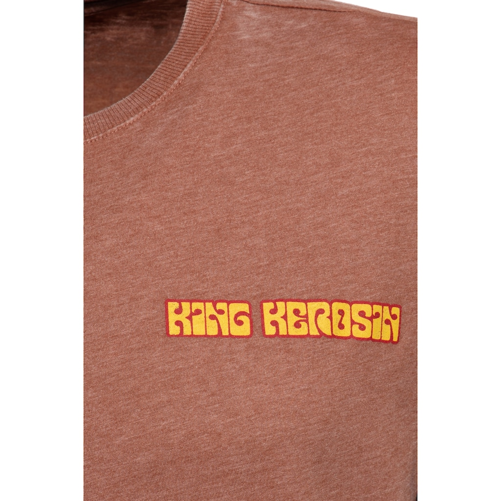 KingKerosin T-Shirt »Chopper 1974«, mit Enzymwash-Effekt und Armaufschlag