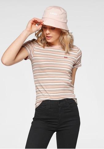 Levi's® Rundhalsshirt, Mit Querstreifen und kleinem Logo kaufen