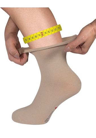 Fußgut Gesundheitssocken »Sensitiv Elegant Socken XXL«, (1 Paar), Weitschaft, Rollbund kaufen