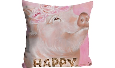 queence Kissenhülle »Happy Pig in Brown«, (1 St.) kaufen