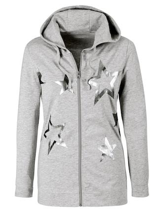 Classic Basics Shirtjacke mit effektvoll glitzernden Sternen vorne bestellen    BAUR 6a3474c73e