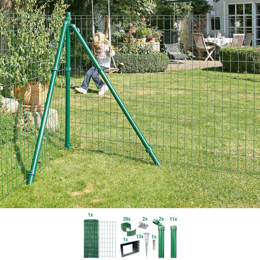GAH Alberts Schweissgitter »Fix-Clip Pro®«, 153 cm hoch, 25 m, grün beschichtet, mit Bodenhülsen