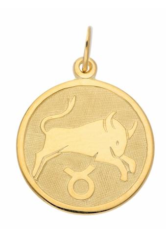 Adelia´s Kettenanhänger »333 Gold Sternzeichen Anhänger Stier Ø 16 mm« kaufen