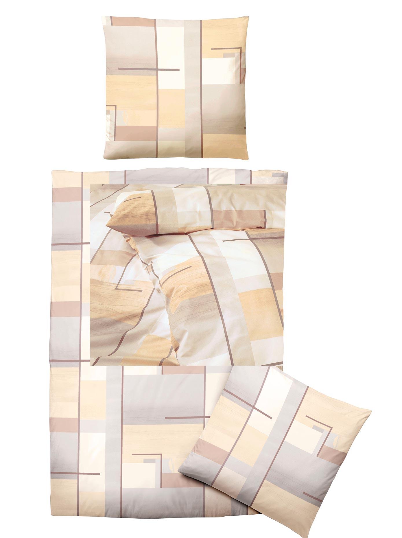 Biberna Bettwäsche braun Baumwollbettwäsche nach Material Bettwäsche, Bettlaken und Betttücher