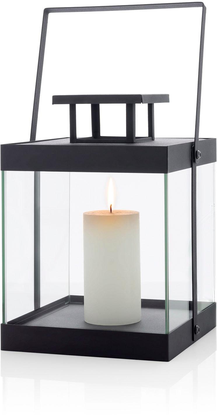 BLOMUS Kerzenlaterne Laterne -FINCA- klein - black schwarz Kerzenhalter Kerzen Laternen Wohnaccessoires