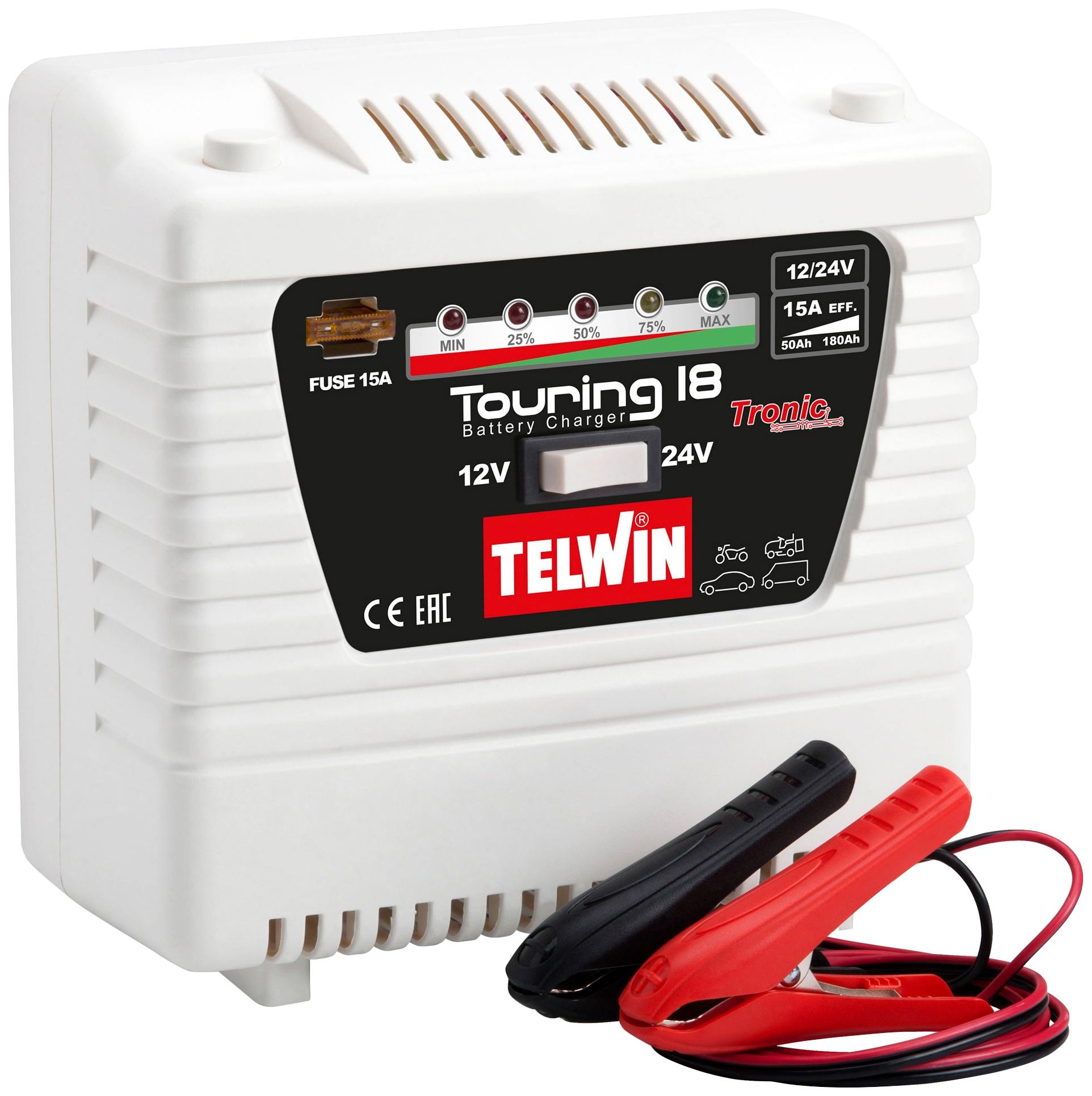 TELWIN Autobatterie-Ladegerät Touring 18, 9000 mA, 12/24 V weiß Autobatterie-Ladegeräte Autozubehör Reifen
